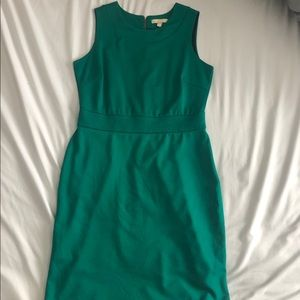 Banana Republic Kelly green sleeveless dress
